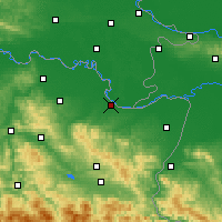 Nearby Forecast Locations - Brčko - Carte