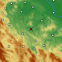 Nearby Forecast Locations - Velika Kladuša - Carte