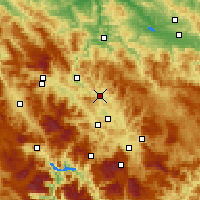 Nearby Forecast Locations - Kakanj - Carte