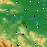 Nearby Forecast Locations - Odžak - Carte