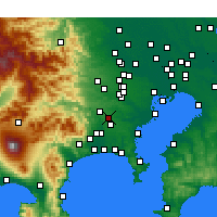 Nearby Forecast Locations - Machida - Carte