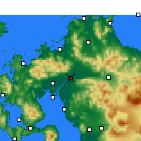 Nearby Forecast Locations - Kurume - Carte