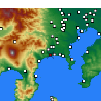 Nearby Forecast Locations - Hiratsuka - Carte
