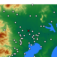 Nearby Forecast Locations - Kasukabe - Carte