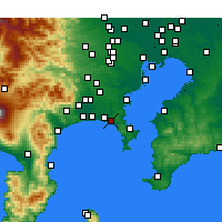 Nearby Forecast Locations - Kamakura - Carte