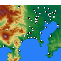 Nearby Forecast Locations - Ebina - Carte
