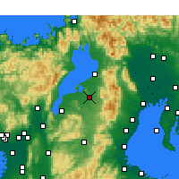 Nearby Forecast Locations - Higashiōmi - Carte