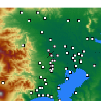 Nearby Forecast Locations - Fujimino - Carte