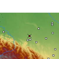 Nearby Forecast Locations - San Juan de Yapacaní - Carte
