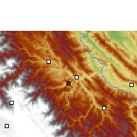 Nearby Forecast Locations - Tipuani - Carte