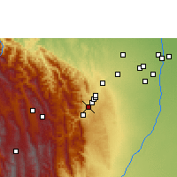 Nearby Forecast Locations - Tiquipaya - Carte