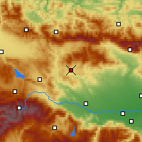 Nearby Forecast Locations - Panagyurichté - Carte