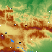 Nearby Forecast Locations - Etropole - Carte