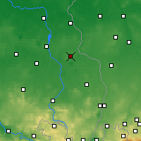 Nearby Forecast Locations - Weißwasser - Carte