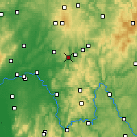 Nearby Forecast Locations - Wächtersbach - Carte