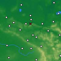 Nearby Forecast Locations - Lübbecke - Carte