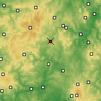 Nearby Forecast Locations - Frankenberg - Carte