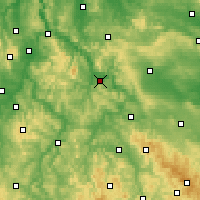 Nearby Forecast Locations - Eschwege - Carte