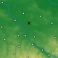 Nearby Forecast Locations - Bad Liebenwerda - Carte