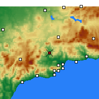 Nearby Forecast Locations - Álora - Carte