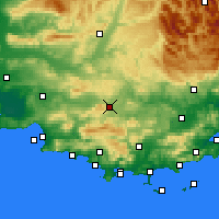 Nearby Forecast Locations - Saint-Maximin-la-Sainte-Baume - Carte
