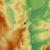 Nearby Forecast Locations - Rive-de-Gier - Carte