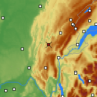 Nearby Forecast Locations - Oyonnax - Carte