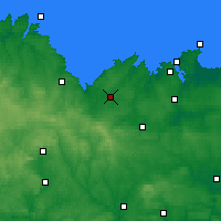 Nearby Forecast Locations - Lamballe - Carte