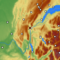 Nearby Forecast Locations - Bellegarde-sur-Valserine - Carte