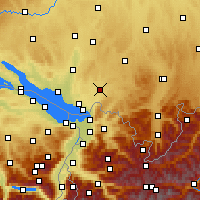 Nearby Forecast Locations - Wangen im Allgäu - Carte