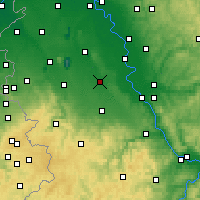 Nearby Forecast Locations - Erftstadt - Carte