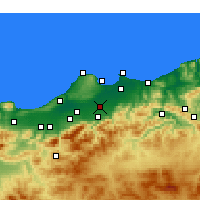 Nearby Forecast Locations - Sidi Moussa - Carte