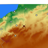 Nearby Forecast Locations - Ouled Mimoun - Carte
