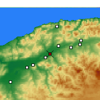 Nearby Forecast Locations - Oued Sly - Carte