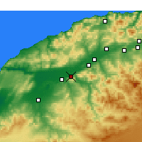 Nearby Forecast Locations - Oued Rhiou - Carte