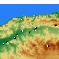 Nearby Forecast Locations - Oued Fodda - Carte