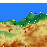 Nearby Forecast Locations - Mouzaia - Carte