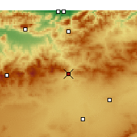 Nearby Forecast Locations - Ksar el Boukhari - Carte