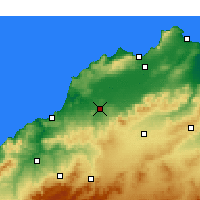Nearby Forecast Locations - Hammam Bou Hadjar - Carte