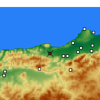 Nearby Forecast Locations - Hadjout - Carte