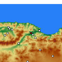Nearby Forecast Locations - El Kseur - Carte