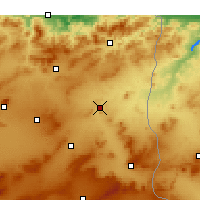 Nearby Forecast Locations - El Aouinet - Carte