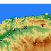 Nearby Forecast Locations - El Abadia - Carte