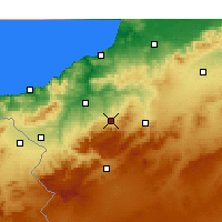 Nearby Forecast Locations - Chetouane - Carte