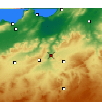 Nearby Forecast Locations - Bou Hanifia - Carte