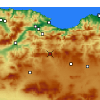Nearby Forecast Locations - Bougaa - Carte