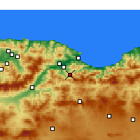 Nearby Forecast Locations - Barbacha - Carte