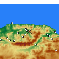 Nearby Forecast Locations - Azazga - Carte