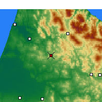 Nearby Forecast Locations - Ouezzane - Carte
