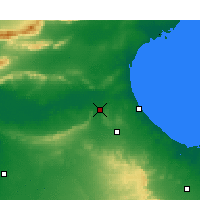 Nearby Forecast Locations - El Hamma - Carte